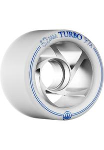 ROLLERBONES Silver Turbo Wheel - 62x38mm/97A - white
