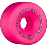 ROLLERBONES Team Logo Artistic Wheel - 62x30mm/98A - Pink - 8-Pack