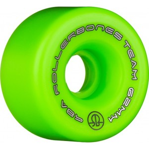 ROLLERBONES Team Logo Artistic Wheel - 62x30mm/98A - Green - 8-Pack