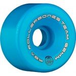 ROLLERBONES Team Logo Artistic Wheel - 62x30mm/98A - Blue - 8-Pack