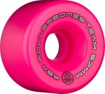 ROLLERBONES Team Logo Artistic Wheel - 57x30mm/98A - Pink - 8-Pack