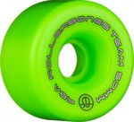 ROLLERBONES Team Logo Artistic Wheel - 57x30mm/98A - Green - 8-Pack