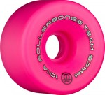 ROLLERBONES Team Logo Artistic Wheel - 57x30mm/101A - Pink - 8-Pack