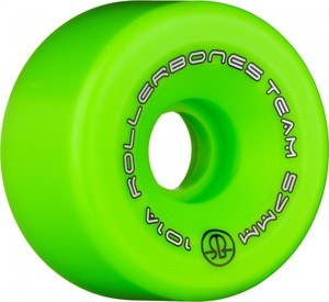 ROLLERBONES Team Logo Artistic Wheel - 57x30mm/101A - Green - 8-Pack