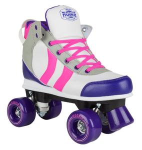 ROOKIE Rollerskates Deluxe Pink/Grey/Purple