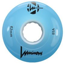 LUMINOUS Quad Wheel - 62x38mm/85A - blue GLOW