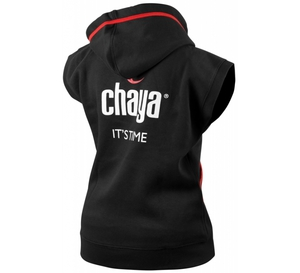 CHAYA Logo Sleeveless Hoody - Black