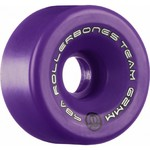 ROLLERBONES Team Logo Artistic Wheel - 62x30mm/98A - Purple - 8-Pack