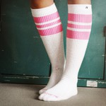 SPIRIT OF 76 The pink pinks on white Hi Socks