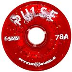 ATOM Pulse Glitter Wheel - 65x37mm/78A - red