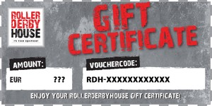 ROLLERDERBYHOUSE Gift Certificate
