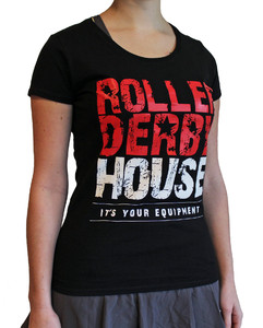ROLLERDERBYHOUSE Logo Round Neck Girl Top