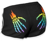ROLLERBONES Booty Shorts black/white/rainbow