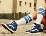 SPIRIT OF 76 The blue Blues on white Hi Socks