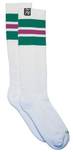 SPIRIT OF 76 The dark green Purples on white Hi Socks
