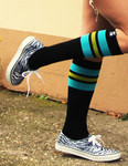 SPIRIT OF 76 The turquoise Limes on black Hi Socks