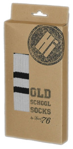 SPIRIT OF 76 The white Whites on black Hi Socks
