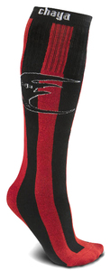 CHAYA Tube Socks Black Red