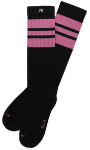 SPIRIT OF 76 The pink Pinks on black Hi Socks