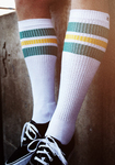 SPIRIT OF 76 The green Sunnys on white Hi Socks