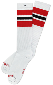 SPIRIT OF 76 The red Blacks on white Hi Socks
