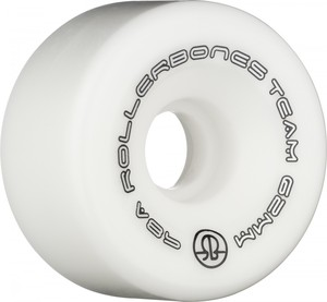 ROLLERBONES Team Logo Artistic Wheel - 57x30mm/98A - White - 8-Pack