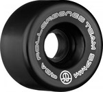ROLLERBONES Team Logo Artistic Wheel - 62x30mm/98A - Black - 8-Pack