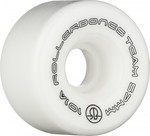 ROLLERBONES Team Logo Artistic Wheel - 57x30mm/101A - White - 8-Pack