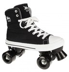 ROOKIE Canvas Rollerskates High Black